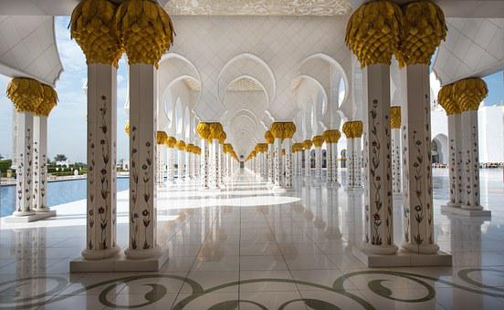 Mosque, Abu Dhabi, Travel, White, Architecture, Orient