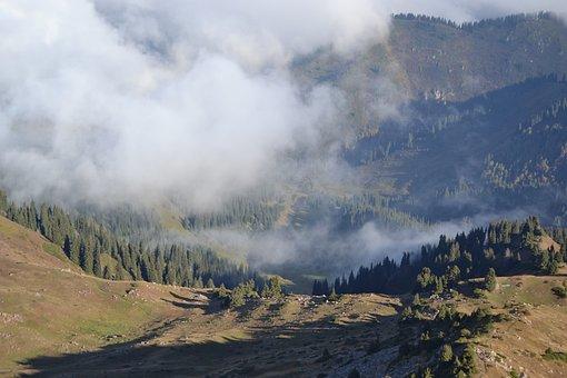 Kazakhstan, Trips, Mountains, Silence, Landscape, Fog