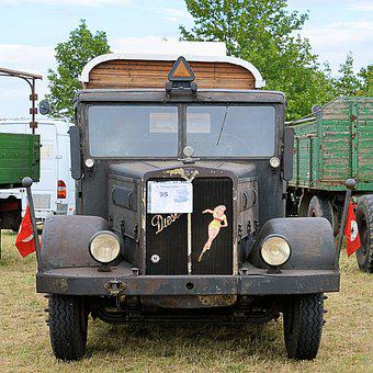 Truck, Old, Historically, Faun, German Empire