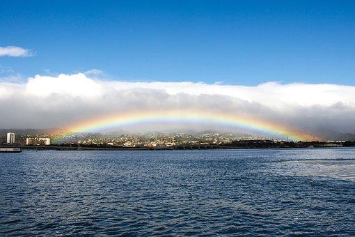 Honolulu, Oahu, Rainbow, Pearl Harbor, Rainfall, Storm