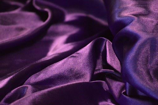 Shiny, Purple, Silk, Royalty, Prestigious, Crumpled