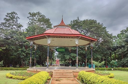 Pergola, Canopy, Band Stand, Garden, Recreation, Roofed