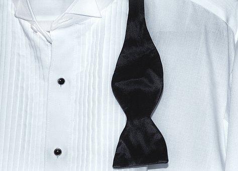 Tux, Shirt, Bow Tie, White, Formal, Clothing, Tuxedo