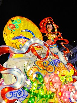 Mid-autumn Festival, Singapore, China Town, 牛车水