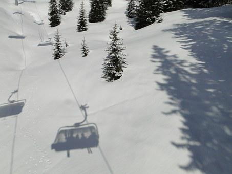 Ski Lift, Shadow, Chairlift, Winter Sports, Winter