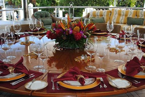 Table Setting, Place Setting, Tablescape, Party, Food