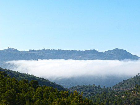 Sea ​​fog, Fog, Clouds, Priorat, The Figuera