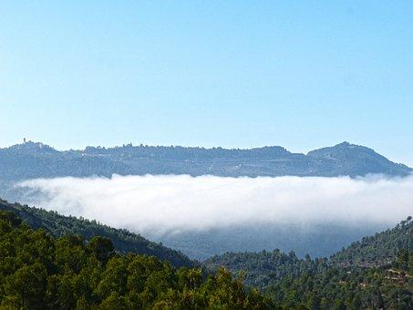 Sea fog, Fog, Clouds, Priorat, The Figuera