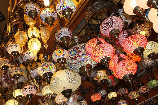 Turkish, Istanbul, Grand Bazaar, Lantern, Travel