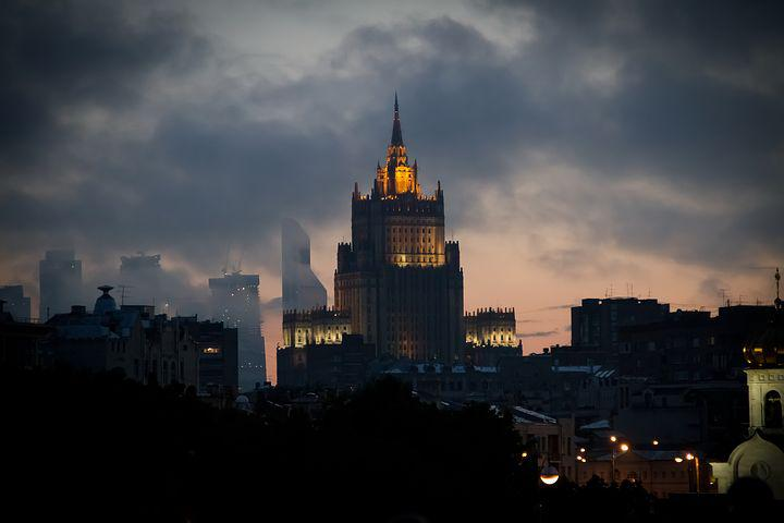 Russia, Moscow, Capital, Mead, Twilight, Clouds