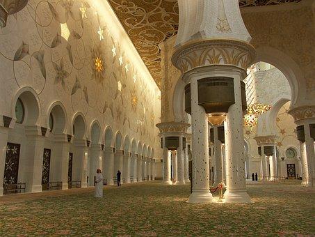 Mosque, Abu Dhabi, Al Nahyan Grand Mosque, U A E