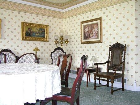 Victorian Dining Room, Formal Living, Wall Paper