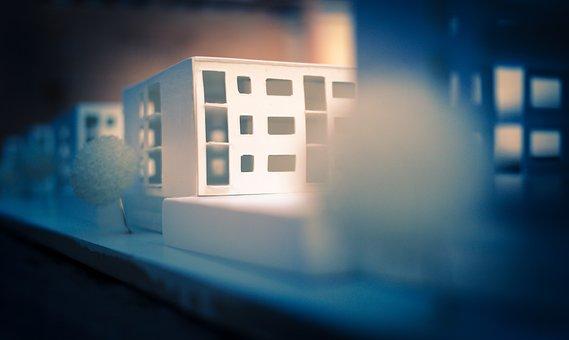 Architecture, House, Night, Shadow, Blur