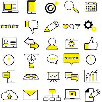 Icons, Yellow Icon, Business, Communication Icons