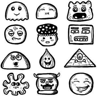 Doodles, Cartoon, Hand Drawn, Doodle