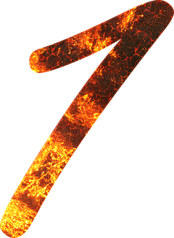 Number, 1, Fire, Font, Training, One, Learn, Gloss