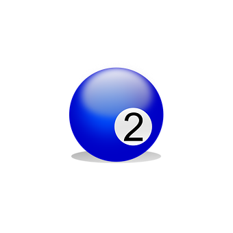 Billiard Ball, Billiards, Play, Number Two, Two