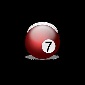 Billiard Ball, Billiards, Play, Number Seven, Seven