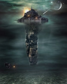 Island, Castle, Substantiate, City