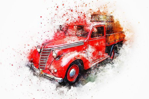 Car, Old Car, Oldtimer, Art, Abstract