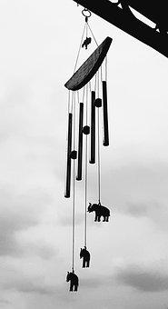 Rattle In The Wind, Aeolian Bells, Bell, Elephants