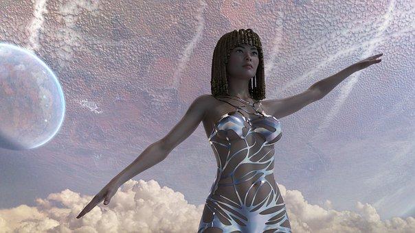 Goddess, Braids, Alien, Space, Planets, Rasta, Hair