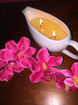 Candle, Massage, Pink, Spa, Relaxation