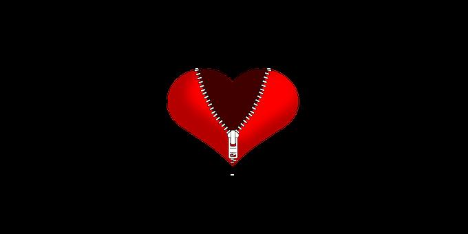 Heart, Heart With Zipper, Zipper, Broken Heart