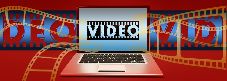 Video, Film, Filmstrip, Laptop, Online, Multi Media