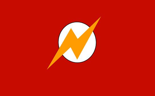 Flash, Superhero, Red, Yellow, Lightning-bolt, Comic