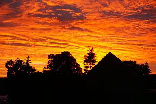 Sunset, Evening, Nature, Sun, Sky, Landscape, Dusk