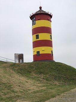 Lighthouse, Pilsum, Otto, Greetsiel, Yellow, Tower