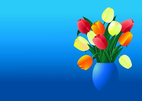 Tulip, Bouquet, Spring, Vase, Decoration