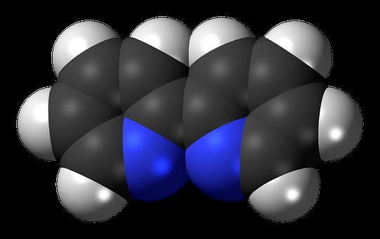 Bipyridine, 3dspacefill, Model, Molecule, Chemical