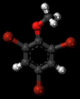 Tribromoanisole, Aromatic, Cyclic, Model, Molecule