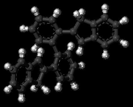 Biphenyl, Aromatic, Hydrocarbon, Model, Molecule