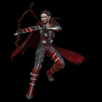 Female, Warrior, Fantasy, Woman, Fighter, Archer, Bow