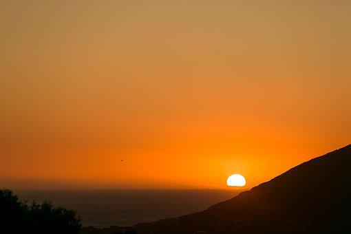 Sunset, Cape Town, Atlantic Ocean, Landscape, Sky