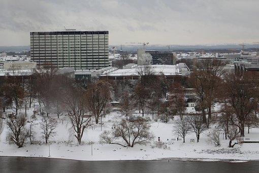 Cologne, Snow, Winter, Bridge, Deutz