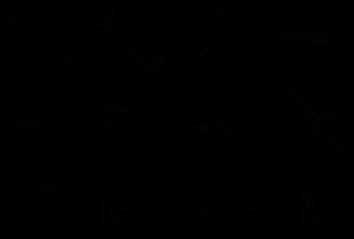 Carpenter, Carpentry, Icons, Construction, Diy, Tool