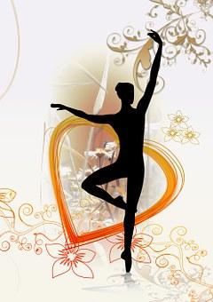 Dance, Dancer, Silhouette, Heart, Love
