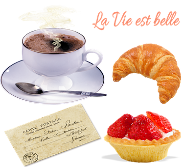 French Breakfast, Coffee, Croissant