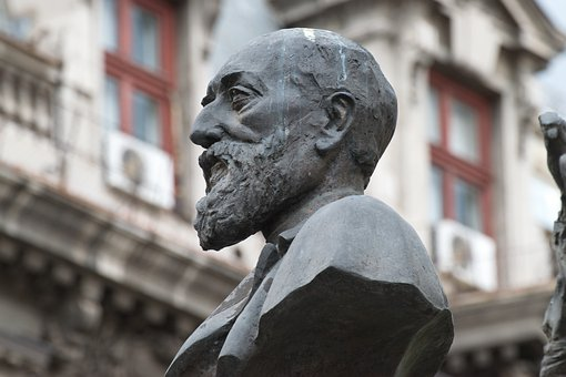 Head, Sculpture, Statue, Man, Beard, Personality