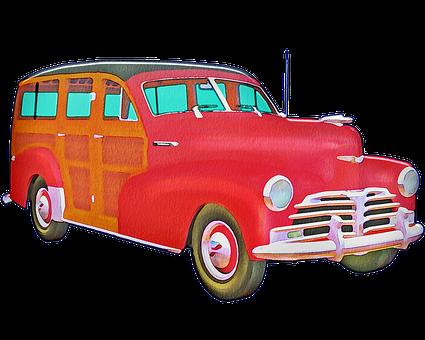 Woody Car, Old Car, Car, Vintage, Antique, Nostalgia