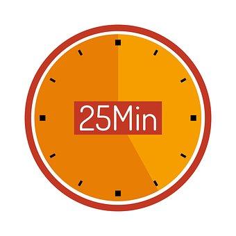 Clock, 25 Min, Wait, Countdown, Plan, Cooking Time
