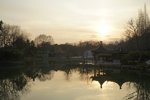 Yangzhou, Slender West Lake, Sunset, Natural