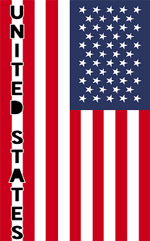 United States Of America, Country Flag, Banner, Bunting