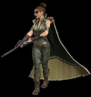 Female, Archer, Woman, Fantasy, Bow, Arrow, Weapon