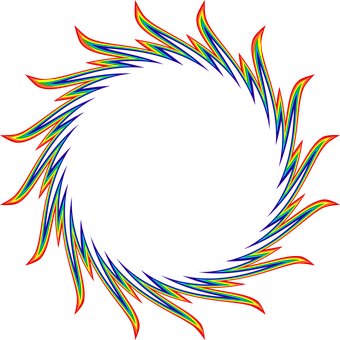 Ring, Flames, Fire, Heat, Colorful, Rainbow, Abstract