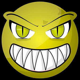 Alien, Halloween, Monster, Face, Golden, Eyes, Devil